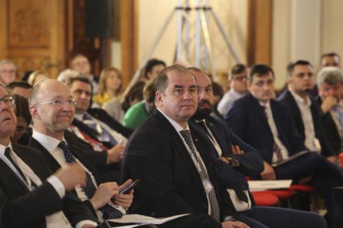 Secretarii de Stat Ion Iordăchescu si Mircea Biban, Matthew Baldwin