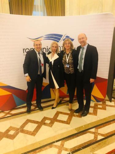 Antonio Avenoso (ETSC), Maria Calinescu (E-SigurantaRutiera), Adriana Kalapis (Ministerul Transporturilor), Matthew Baldwin (Comisia Europeană)